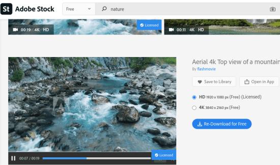 Adobe Stock Video