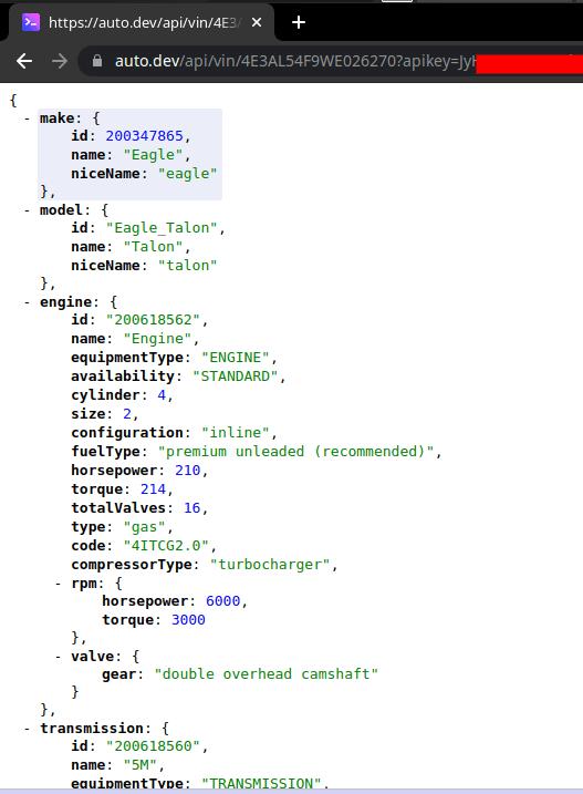 Auto.dev VIN API in Action