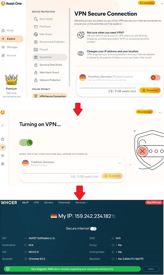 Avast One Free VPN