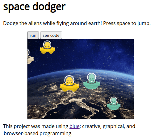 Browser Based Interactive Game Maker to Learning Programming Blue