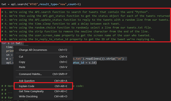 Code Explanation