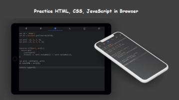 CodePen Alternative for Mobile to Write HTML, CSS, JS Webden