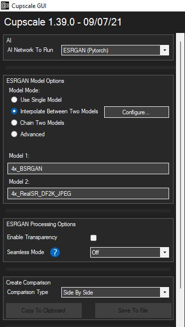 Cupscale Model Options