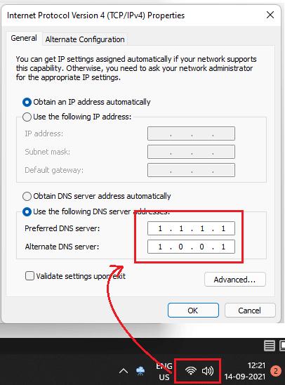 DNS Roaming DNS Changed