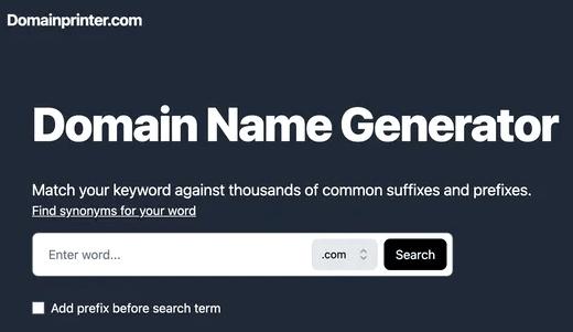 Domainprinter UI