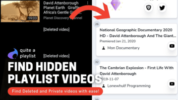 Find Deleted, Private Video Details from a YouTube Playlist