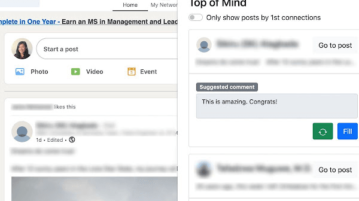 Free LinkedIn Tool to Suggest Comments for a Post using AI: Top of Mind