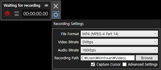 Free Screen Recorder for Windows that lets you select Desired GPU for Recording