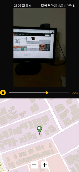 GPS Video Logger app to Record Video and Live Location Together