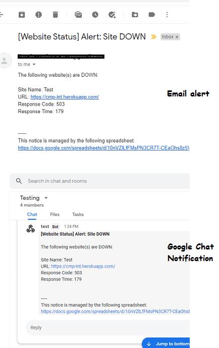 Monitor Website Uptime using Google Sheets