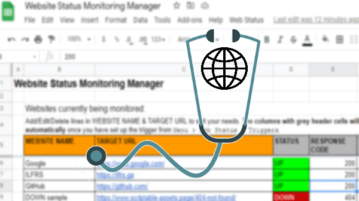 Monitor Website Uptime via Google Sheets
