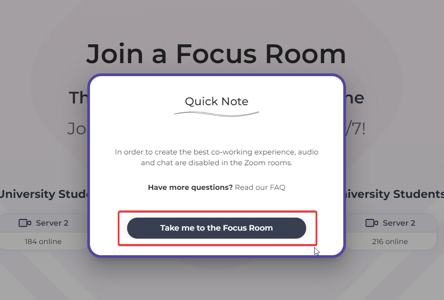 Join Focus room