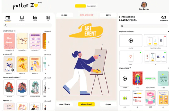 Online Poster Maker with SVG Export, Templates, No Sign Up