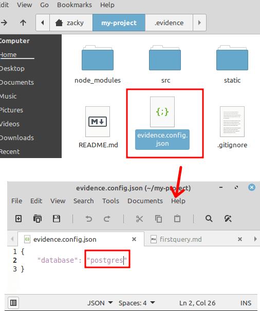 Postgres database Configure
