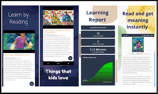Reading App for Kids Based on Kid Friendly News Articles KidoBook
