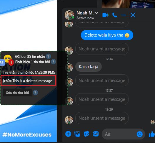RevealDeletedMessageFacebook Deleted Message