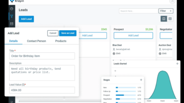 Self Hosted CRM for Teams with Leads Visualization Krayin