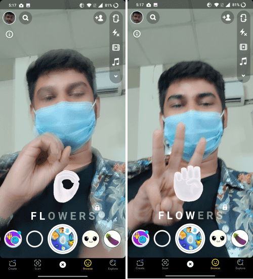 Snapchat Sign language