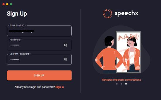 speechx log in