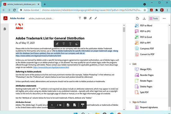 Edit PDFs using Free PDF Editor by Adobe in Chrome and Microsoft Edge