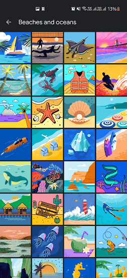 Google's Custom Illustrations Oopned