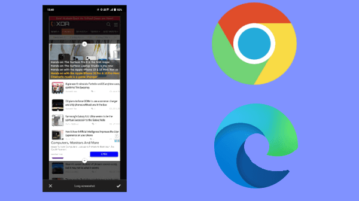 How to Take Full Page Screenshot using Chrome and MS Edge on Android
