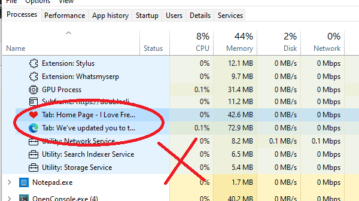 Kill Browser Tabs from Task Manager in Windows 11