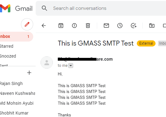 SMTP Sent