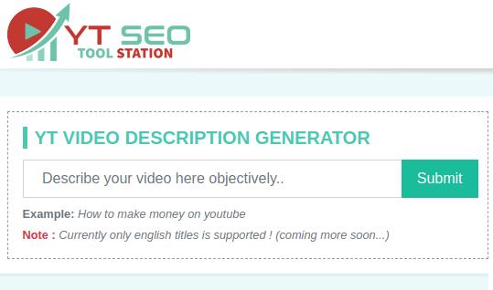 YouTube Video Description Generator