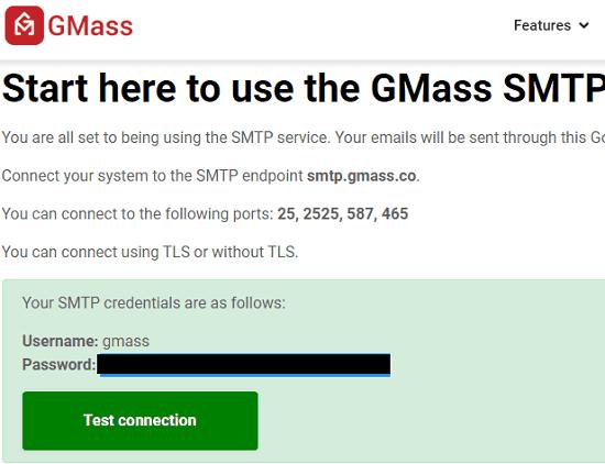 gmass smpt created