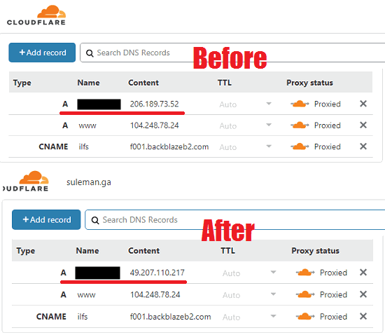Free Software to Dynamically Change IP Address in Cloudflare DNS